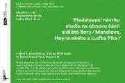 Pozvánka na představení návrhu studie na ob..