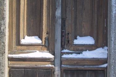 Vchod do synagogy, 2003 / Eingang der Synagoge, 2003