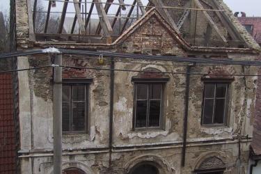 Synagoga při rekonstrukci v roce 2003