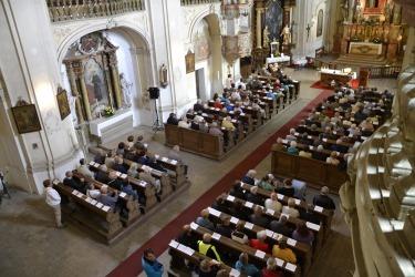 Mše svatá v den poutě na Sv. Anně v roce 2017