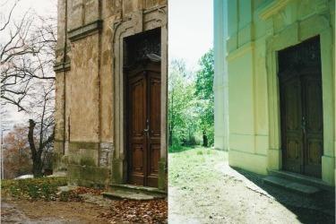 Rekonstrukce kostela, srovnání v roce 1997 a 2001