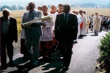 První česko-německá pouť ke Sv. Anně 26. června 1990