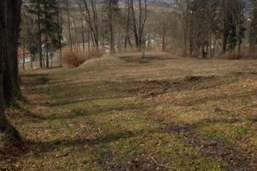 Pašijový park v Hořicích - místo kde stávalo původní divadlo, v roce 2008