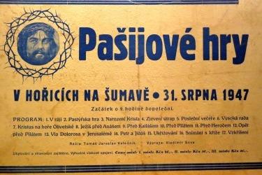 Plakát na jedno z posledních vystoupení po druhé světové válce