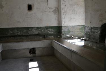 Prohlídka kláštera - umývárny pro příslušníky čs. armády (Foto: D. Lepišová, 2017)