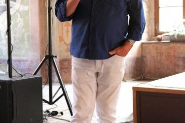 Přednáška architekta Jana Soukupa (předsedy Spolku Pro klášter Chotěšov) v rámci Večera pro klášter Chotěšov v roce 2016 (Zdroj: Chotěšovská vlna)