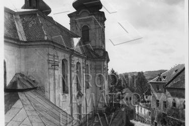 Obec Skoky před demolicí v 60. letech 20. století