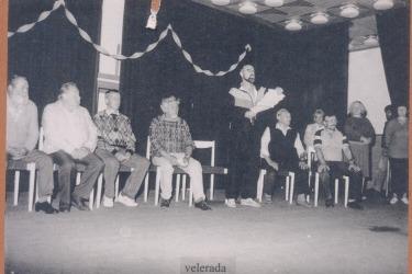 Studie hry v červnu 1993 (Zdroj: Muzeum pašijových her v Hořicích)