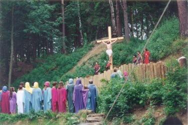 Pašijové hry v roce 1993 (Zdroj: Muzeum pašijových her v Hořicích)
