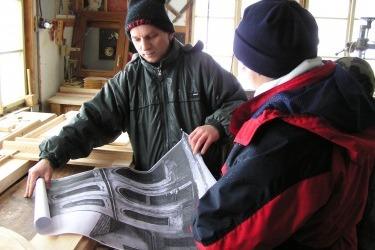 Studium der historischen Fotografie in der Herstellung von Tür- und Fensterrepliken
