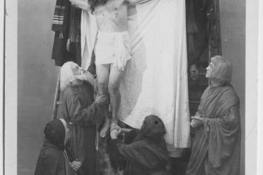 Passionsspiele, Höritz 1947 (Zdroj/Quelle: Muesum Fotoateliér Seidel)
