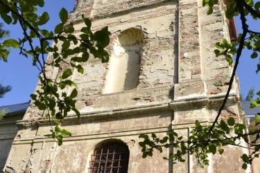 Die St.-Jakobus-Kirche in Bömisch Domschlag