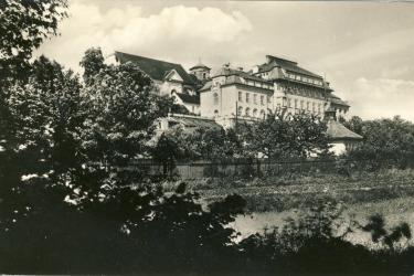 Redemptoristen kloster mit Gärten ubter der St. Anna Kirche, erste Hälfte des 20. Jahrhunderts.