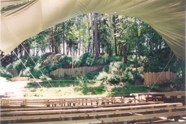 Neu gebautes Naturbühne in Höritz, 1993